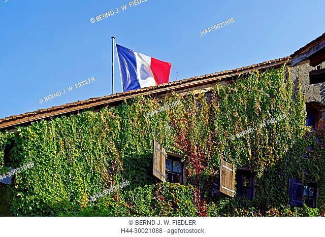 Häuser, alt, typisch, Nationale, Frankreich