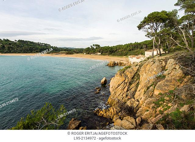 Es Castell (Palamós) natural preserved area, one of the few remaining untouched in Costa Brava, Spain