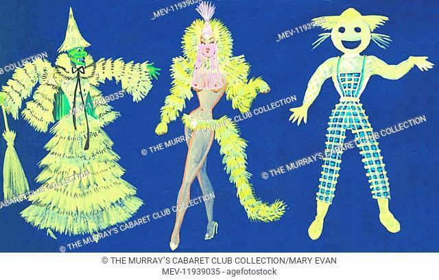 Original costume design for one of the performers at Murray's Cabaret Club, 16-18 Beak Street, Soho, London