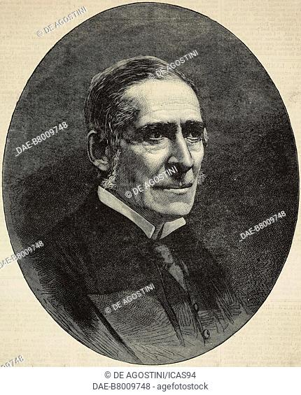 Portrait of James Paget (1814-1899), English surgeon and pathologist, engraving from The Illustrated London News, No 2203, August 6, 1881