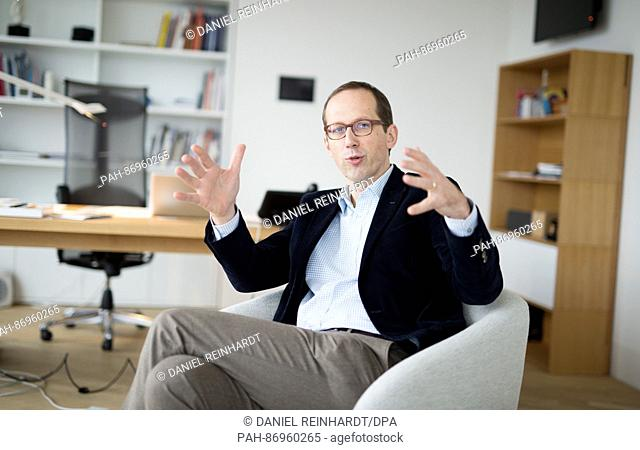Christoph Lieben-Seutter, general director of the Laeiszhalle and Elbphilharmonie as seen alongside an interview for the German Press Agency (dpa) in Hamburg