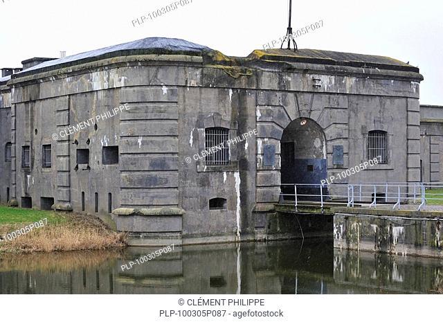 Entrance gate of the Fort Breendonk, Belgium
