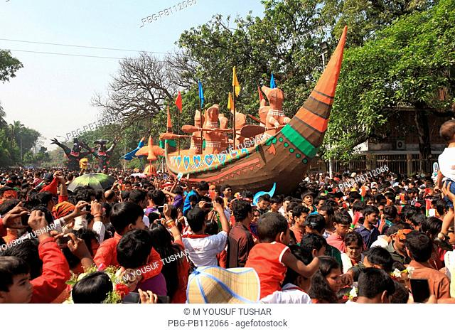 People disguise themselves as a farmer to celebrate Bangla New Year 1418, or Pohela Boishak Noboborsha or the Bangla New Year celebrates by all Bangladeshis...