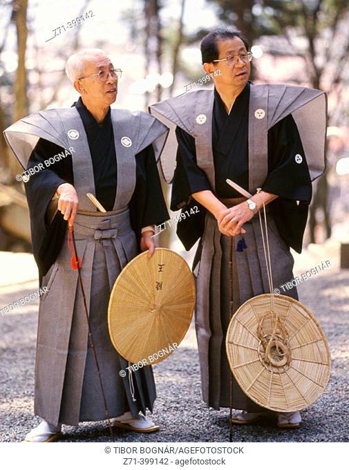 Japan. Takayama. Spring festival, historical costumes