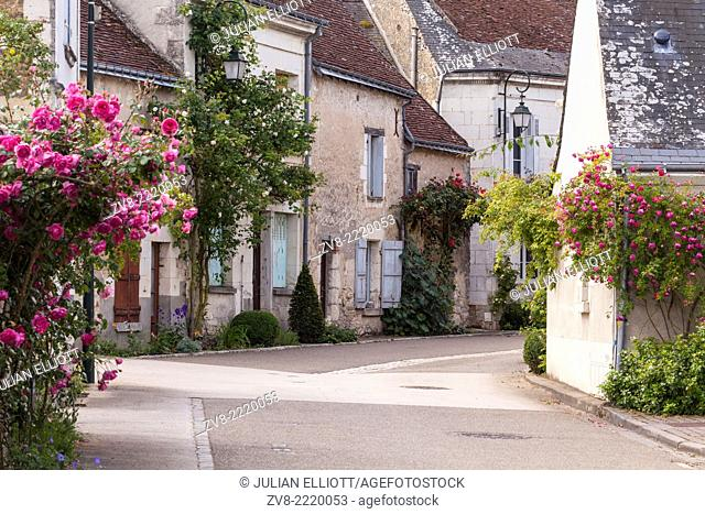 The village of Chedigny, France. The village holds a rose festival every May