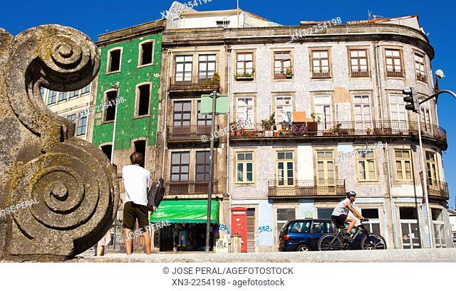 Picture take from Travessa de S. Sebastião, Calçada Vandoma, near Cathedral, Terreiro da Se, Porto, Portugal, Europe