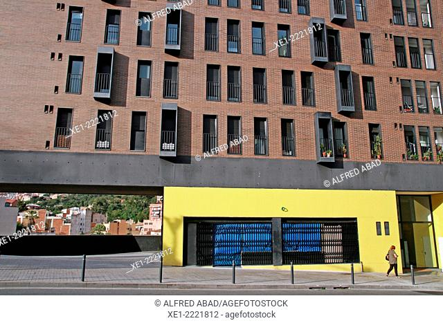 Residential Building, district of Gracia, Barcelona, Catalonia, Spain