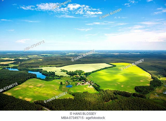 Gmina Czarna Dabrowka, fields, cornfields, forest, forest areas, Pomerania, Baltic Sea coast, pomorskie, Poland