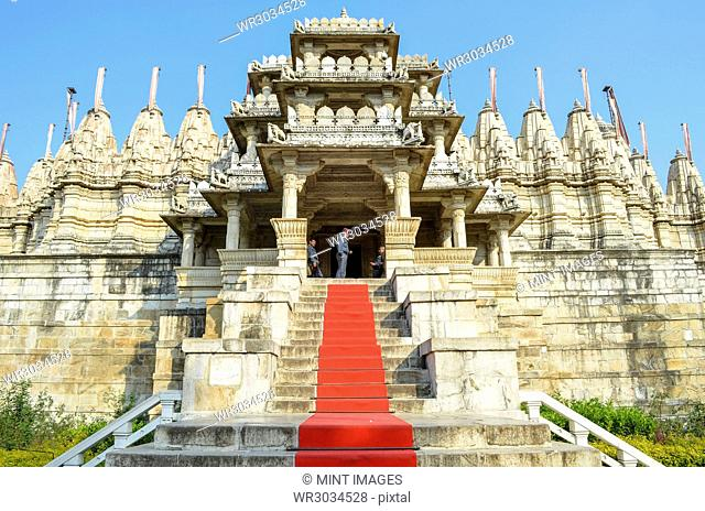 Exterior view of 15th century Ranakpur Jain Temple, Ranakpur, Rajasthan, India