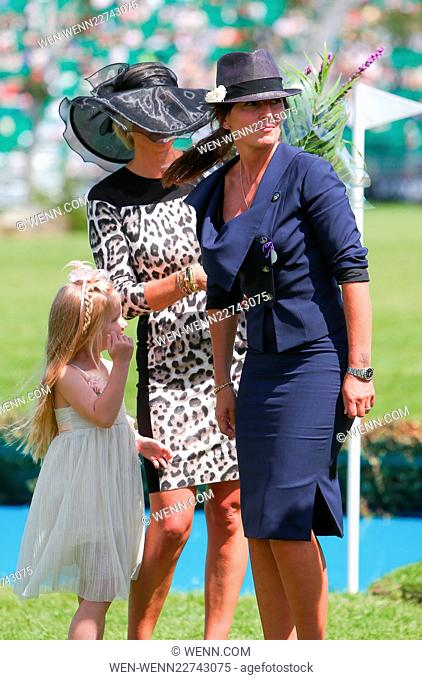 Davina McCall and Jodie Kidd judge the 'Best Dressed Lady' at The Longines Royal International Horse Show at Hickstead Featuring: Davina McCall Where: Hickstead