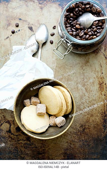 Cookies and coffee beans