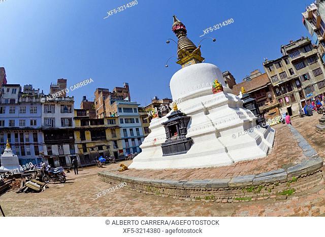 Buddhist Stupa, Thamel Tourist Area, Kathmandu, Nepal, Asia