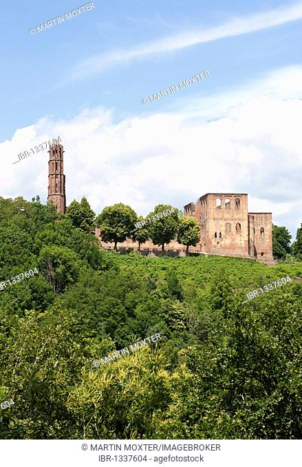 Limburg Abbey, former Abbey of the Holy Cross or Abbey of Limburg an der Haardt, Bad Duerkheim, Rhineland-Palatinate, Germany, Europe