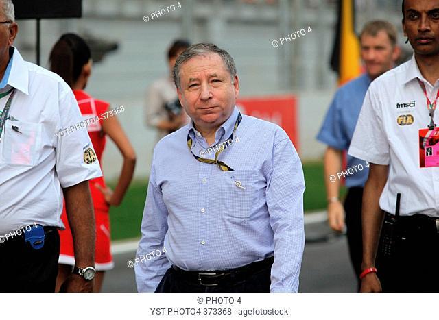 Jean Todt FRA, President FIA, F1, Indian Grand Prix, New Delhi, India