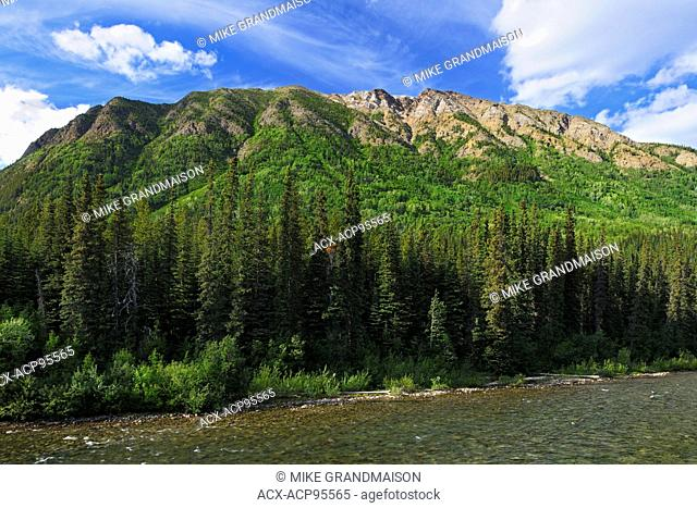 Cottonwood River and the Cassiar Mountains Stewart Cassiar Highway British Columbia Canada