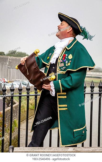 Town Crier, High Street, Lewes, Sussex, UK