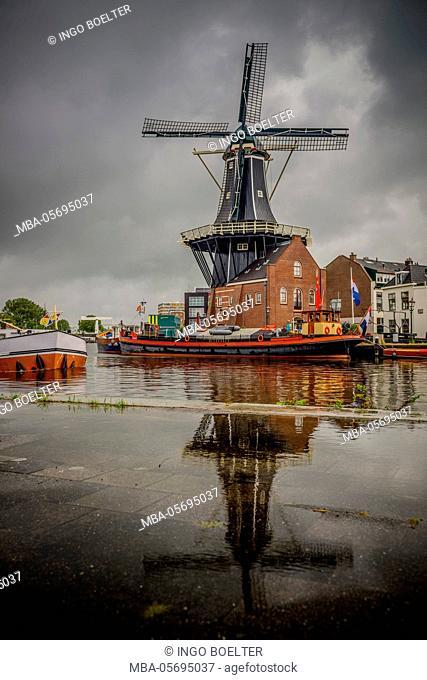 The Netherlands, Haarlem, mill, windmill, De Adriaan