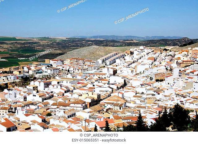 White town rooftops, Teba