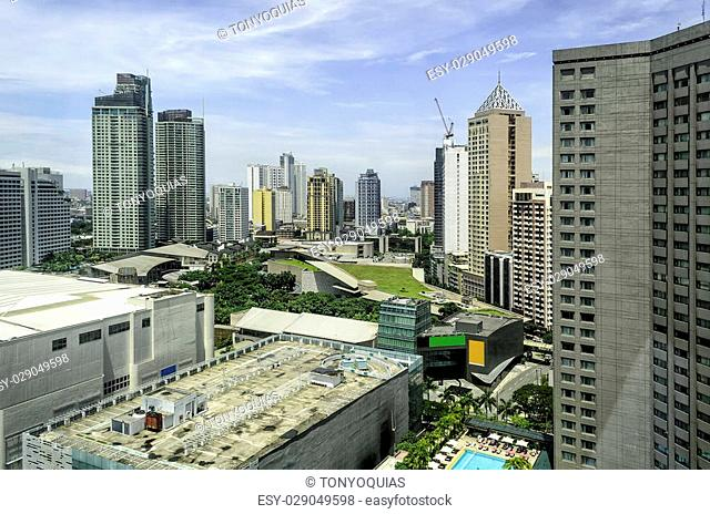 Modern urban buildings in Makati City, Philippines