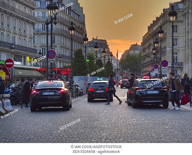 Place Napoleon III at sunset, 10th Arrondissement, Paris, France