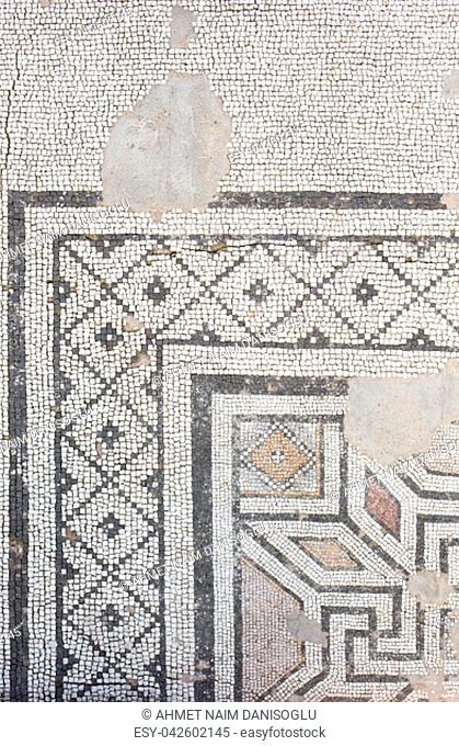 Floor mosaic-Roman period 2-3 rd century A:D., modern day Eskisehir, Turkey
