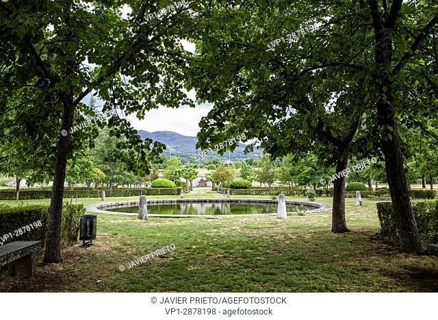 Gardens of the Ducal Palace of Piedrahita. Piedrahiita. Valley of the Crow. Avila. Castilla y León. Spain