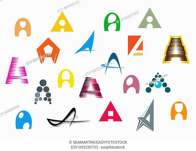 Set of alphabet symbols and elements of A letter