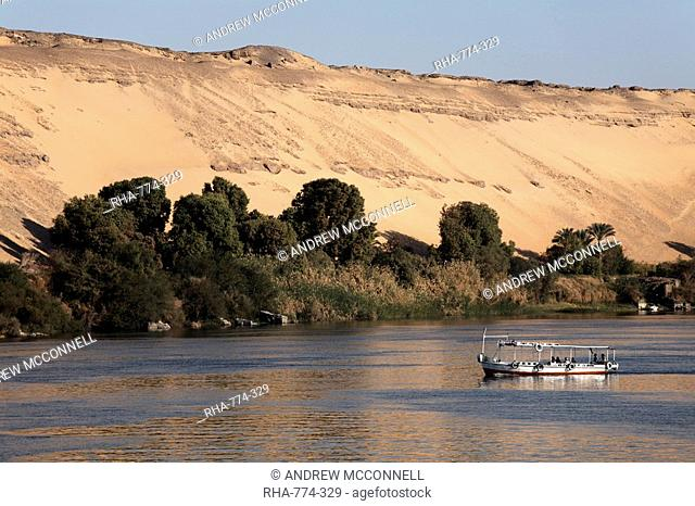 Overlooking the River Nile at Aswan, Egypt, North Africa, Africa