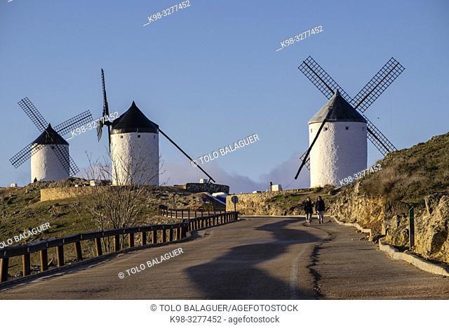 molinos de Consuegra, cerro Calderico, Consuegra, provincia de Toledo, Castilla-La Mancha, Spain