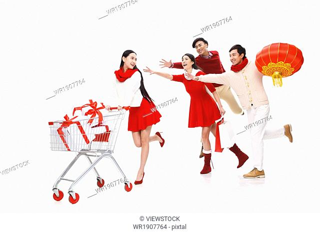 The excitement of the young men and women shopping
