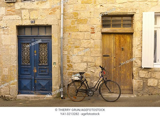 France, Gers (32), town of Lectoure on the way of Saint Jacques de Compostelle, old street