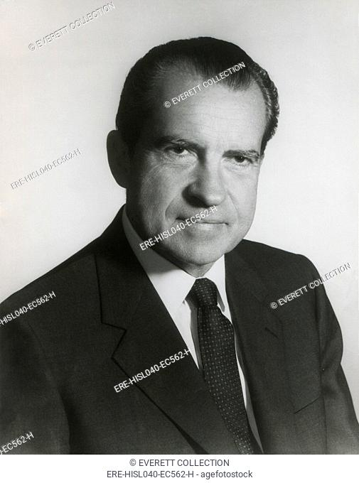 President Richard Nixon in his first term official portrait, 1969. (BSLOC-2015-14-40)