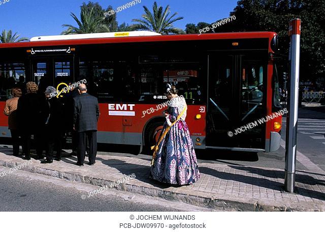 Valencia, at the bus stop