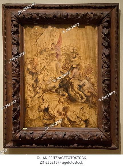 'The ascent to Calvary' by Peter Paul Rubens in National Museum in Copenhagen, Denmark