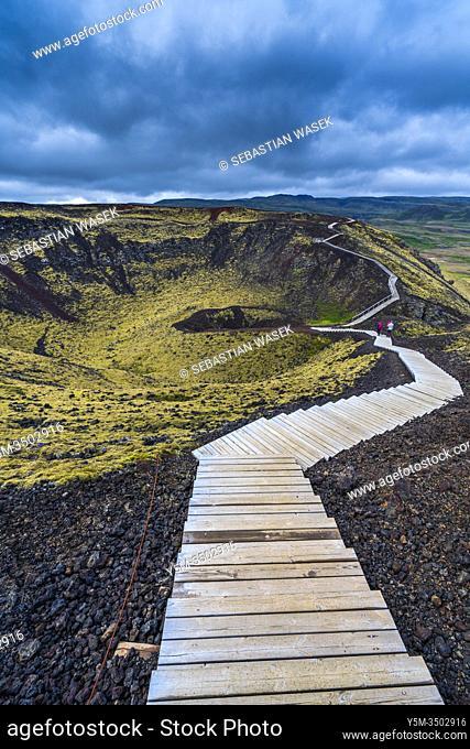 Grábrók Volcano, Iceland