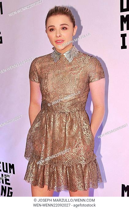 Museum of Moving Image Salutes Julianne Moore at 583 Park Avenue - Arrivals Featuring: Chloe Grace Moretz wearing Valentino Where: New York