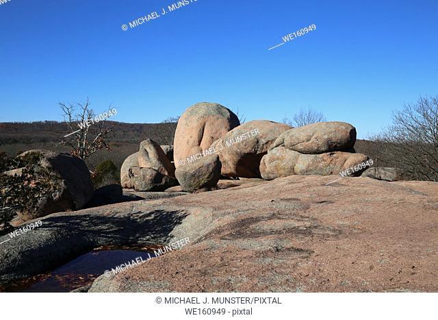 Elephant Rocks outside of Saint Louis, Missouri. USA