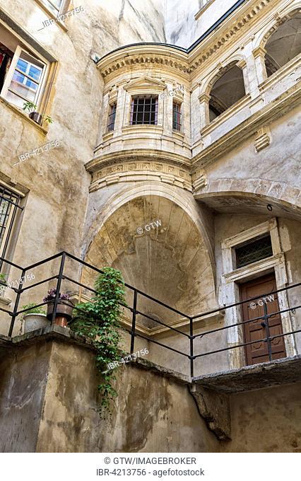 Traboule Gallery Philibert de l'Orme, Unesco World Heritage Site, Saint-Jean district, Old Lyon, Lyon, Rhone, France