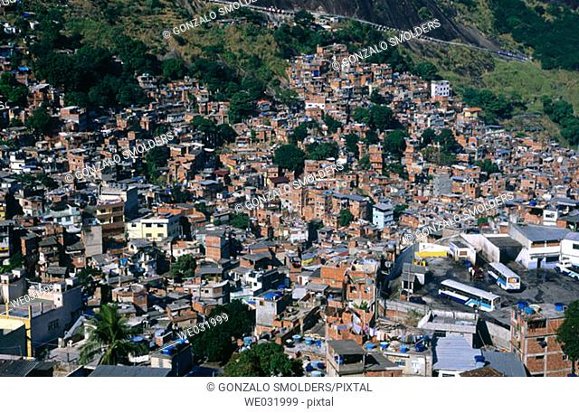 Rocinha favela, Rio de Janeiro. Brazil