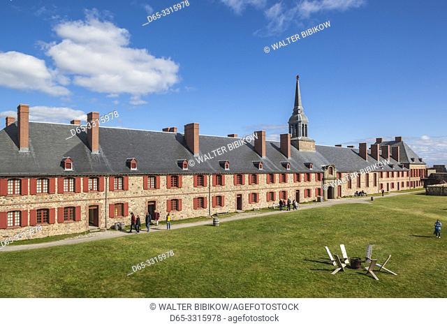 Canada, Nova Scotia, Louisbourg, Fortress of Louisbourg National Historic Park, Kings Bastion Barracks