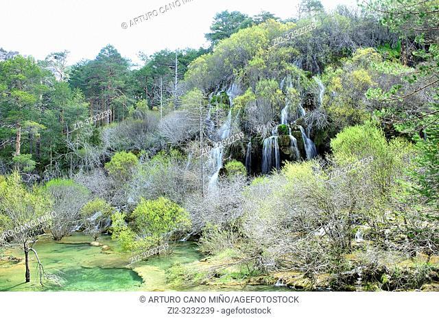 The River Cuervo Natural Monument. Serrania de Cuenca Natural Park. Cuenca Province, Spain
