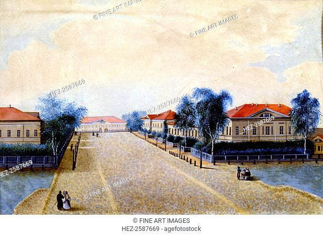 'View of the Treasury in Tver', 1830s. Found in the collection of the A Pushkin Memorial Museum, St Petersburg