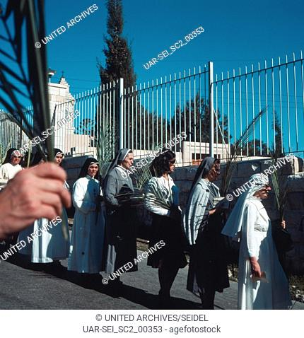 Palmsonntag in Israel, 1970er Jahre. Palm Sunday in Israel, 1970s