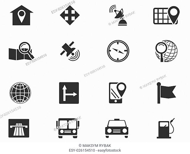 Navigation simply icons for web and user interfaces