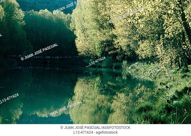 Jucar river by Cuenca. Castilla-La Mancha, Spain