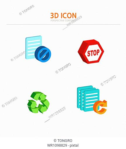 illustration of 3d icons