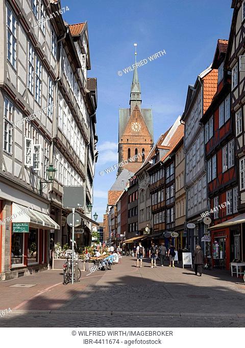Historic centre, market church, Hanover, Lower Saxony, Germany