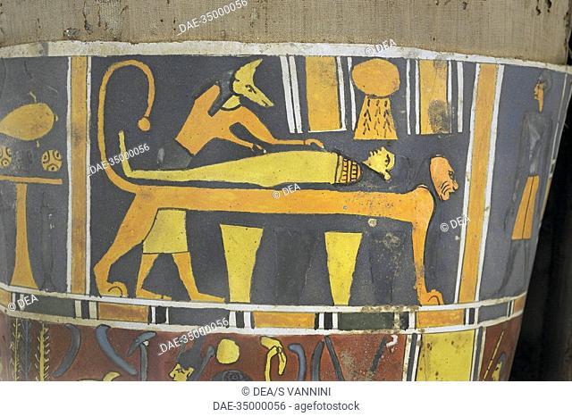 Egypt - Saqqara necropolis (UNESCO World Heritage List, 1979) - 4th century b.C. (Dinasty XXX, 378-341 b.C.). Mummified mid-ranking person