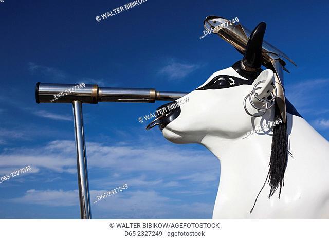 Australia, Western Australia, The Southwest, Cape Leeuwin, pirate cow sculpture