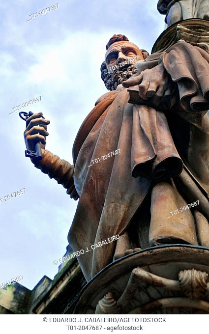 sculpture of St. Peter. Cathedral of Seville. Andalucia. Spain